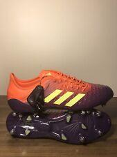 Adidas Mens Predator Malice Control BB7974 Orange Purple Rugby Cleats Size 11