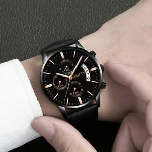 Relogio Masculino 2019 Watches Men Fashion Sport Stainless Steel Leather Band