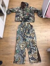 Cabelas Dry Plus 2x Bibs & Jacket Waterproof Soft Material Camo MADE IN USA