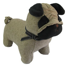 Pug Dog Door Stop - Canvas type fabric Approx 22cm x 24cm