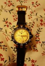 NEW Swiss Legend Men's Challenger Watch Analog Gold and Black Silicone Band