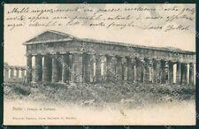 Barletta Pesto Paestum Tempio Nettuno cartolina XB5496