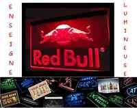 PANNEAU COLLECTION RARE LUMINEUX RED BULL PUB LED ENSEIGNE BAR CAFE NEON LAMPE