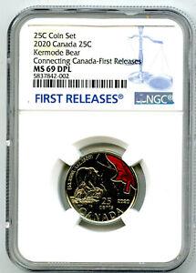 2020 CANADA KERMODE BEAR NGC MS69 DPL FIRST RELEASES 25 CENT QUARTER TOP POP=11