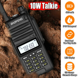 10W Baofeng BF-UVF10 Walkie Talkie VHF UHF Dual Band Handheld Two Way Radio