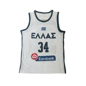 Basketball Jersey EUROBANK 34 Jersey Embroidery Sewing Outdoor Sportswear Jersey