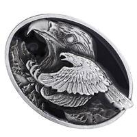 Silver Flying Eagle Western Cowboy Rodeo Men's Women's Oval Belt Buckle Gift
