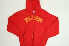 Mens Gildan Red Hawks 1/4 Zip Hoodie Large L GUC
