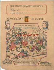 Protège cahier Ariège Bataille de Ravenne Clausel Lakanel Moyen Âge Histoire