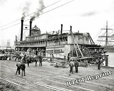 Historical Photo of Paddle Wheel Steamship Nettie Quill Mobile Alabama 1905 8x10