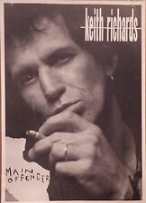 "Music Poster~Keith Richards 1992 M Offender 24x34"" Talk is Cheap Rolling Stones~"
