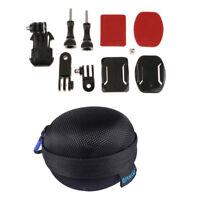 Helmet Side Mount Kits + Shockproof Storage Bag for Gopro Hero 4S 5 Session