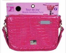 Bike Handlebar Bag Purse Bicycle Pouch for Kids Hot Pink by Joy Ride Reflective