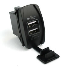 S1 Car Motor Waterproof 3.1A Dual USB Socket Charger Power Adapter LED 12-24V