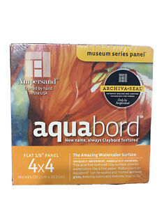 "Ampersand Art - Aquabord - Uncradled - 1/8"" Profile - 4"" x 4"" 4/Pkg."