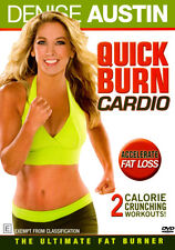 DENISE AUSTIN Quick Burn Cardio NEW DVD Accelerate Fat Loss Calorie Workout