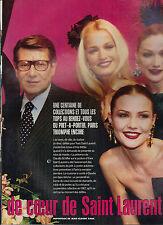 COUPURE DE PRESSE CLIPPING 1996  CLAUDIA SCHIFFER Dame de Coeur de Saint Laurent