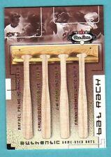 2002 Fleer Box Score Bat Rack Frank Thomas/Thome/DelGado/Palmeiro /150