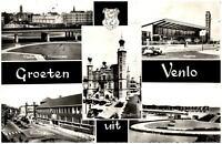 Venlo Niederlande alte Mehrbildkarte 1961 Bahnhof Station Maasbrug Keulse Poort