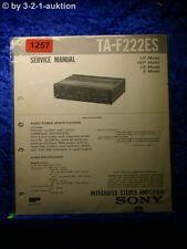 Sony Service Manual TA F222ES Amplifier  (#1257)