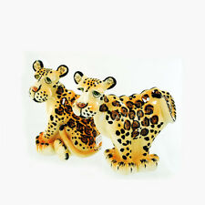 Zoe the Leopard Salt & Pepper Shakers Signed Lynda Corneille Swak Safari