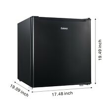 New ListingMini Fridge Small Refrigerator Freezer 1.7 Cu Ft Single Door Compact Black Metal