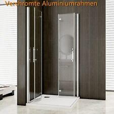 180° Falttür+Drehtür NANO Glas EckeinstiegDuschabtrennung Duschtür  Duschkabine