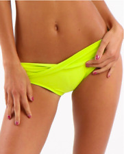 Seafolly *NEW W TAGS $65* Twist Band Hipster Chartreuse classic Bikini Bottoms