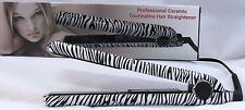 Hair Straightener/Flat Iron Professional CeramicTourmaline Plates/Zebra Print