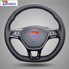 Black Leather Steering Wheel Cover for VW Passat B8 Jetta Golf 7 Mk7 New Polo