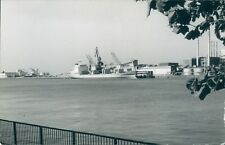 PRC MV An Ning Jiang at silvertown 1955 Cargo ship original photo