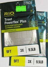 Rio Vorfächer Powerflex Plus 2er-Packg. - 2er-Set 9' / 2,75 - 3X / 0,21 mm