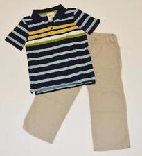 Toddler 4T GYMBOREE 2pc Dressy Outfit Lot Stripe Polo Shirt Khaki Linen Pants
