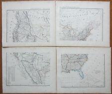 Sohr / Berghaus: Large 4 Sheet Map United States of America - 1853