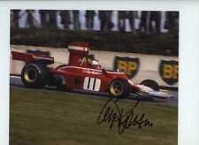 Clay Regazzoni Ferrari 312 B3 British Grand Prix 1974 Signed Photograph 2