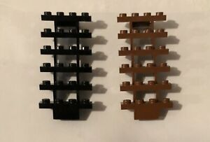 2 x Lego Stairs Staircase Stair Case Brown & Black Good Condition