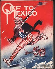 Off To Mexico 1914 Large Format Sheet Music