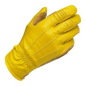 Gloves Biltwell Gold Leather With Guards Suede Palm