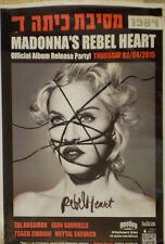 MADONNA > Rebel Heart ISRAEL ISRAELI HEBREW POSTER