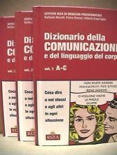 DIZIONARIO DELLA COMUNICAZIONE e del linguaggio del corpo - tre volumi Riza