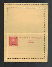 Mint Macau 4 Overprint Portugal Postal Stationary Postcard Cover