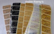 Lot 100 Etiquettes Stickers neuf bijoux cadeaux Plaisir d'offrir 5 assortiments