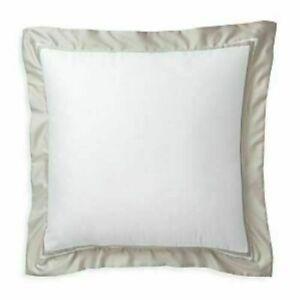 Ralph Lauren Home Bowery Vintage Silver Euro Pillow Sham retail $145
