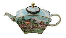 Art Gifts Enamel Copper Hand painted Mini Miniature Small Teapot - Village House