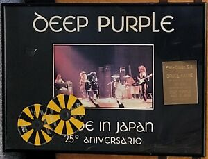 Deep Purple Made in Japan 25th Anniversary OFFICIAL SPANISH SALES AWARD