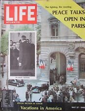 Magazin Life Atlantic Mai 1968 Vacations in America Peace Talks Open in Paris