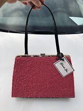 NWT Glenda Gies SCARLET Pink Dusty Rose Wool Handbag