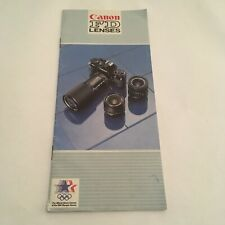 EARLY MANUAL FOR CANON FD LENSES -FREE SHIPPING
