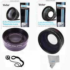 HD SEMI FISHEYE + 2X Telephoto Lens for CANON REBEL EOS DSLR CAMERAS 58MM THREAD