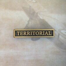NZ DEFENCE MEDAL TERRITORIAL CLASP | NZDM ** CLEARANCE **